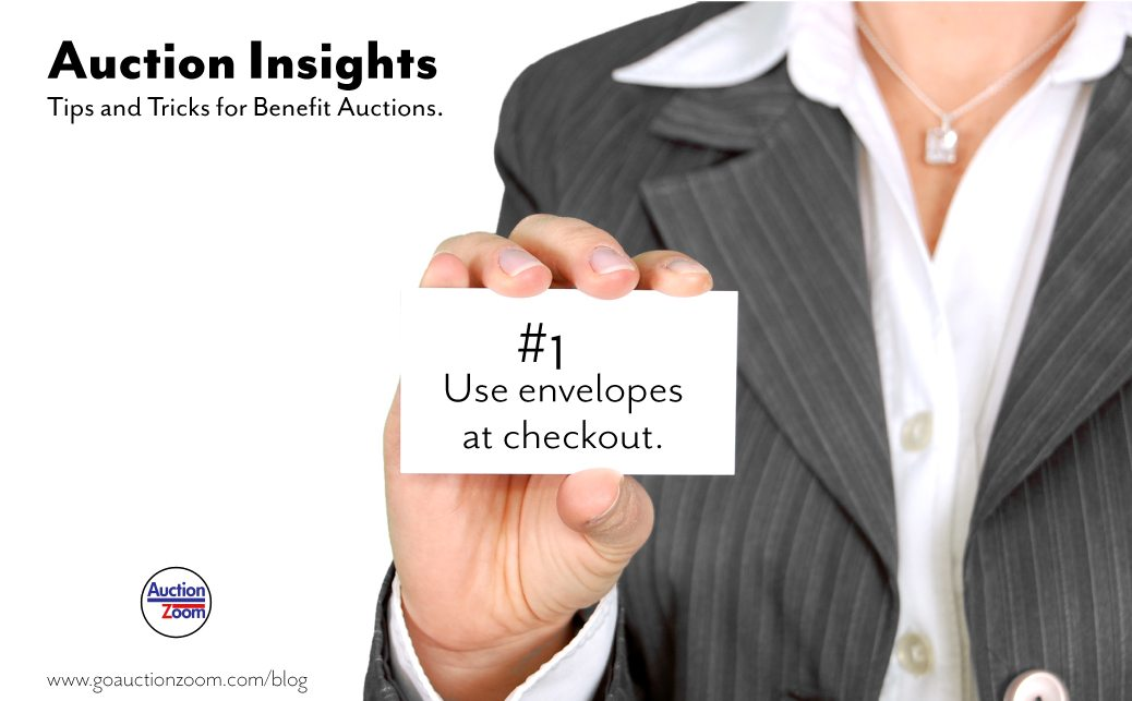 Auction Insights #1 Use Envelopes at Checkout!