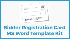 Bidder Registration Card Template Kit