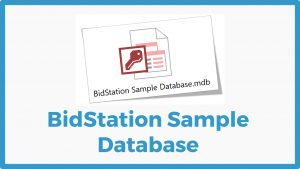 BidStation Sample Database