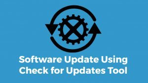 Updating Software using Check for Updates